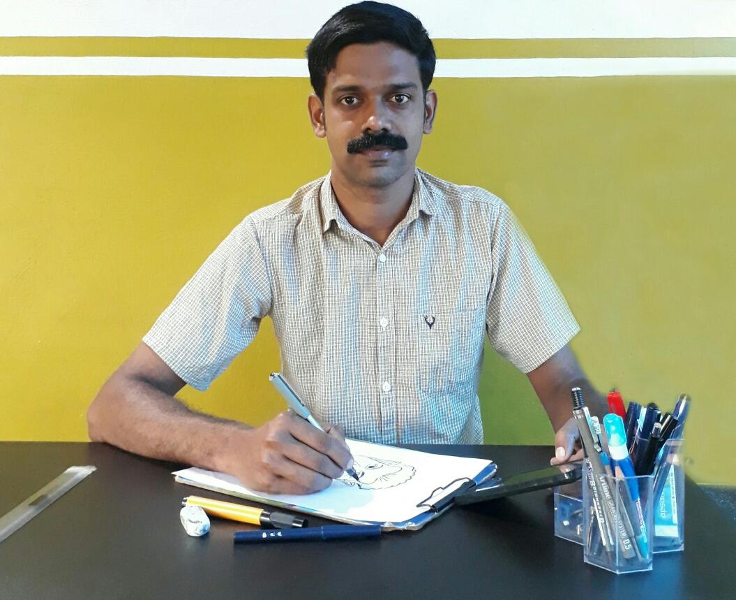 '' കോവിഡാശാന് '': സോഷ്യല് മീഡിയ വഴി കാര്ട്ടൂണ് ബോധവത്ക്കരണം നടത്തി ഫ്രീലാന്സ് കാര്ട്ടൂണിസ്റ്റ് നവാസ് കോണോംപാറ