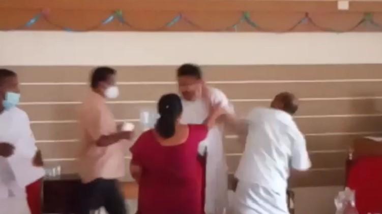 പാലാ നഗരസഭയിൽ ഭരണപക്ഷ കൗൺസിലർമാർ തമ്മിൽ കൈയ്യാങ്കളി